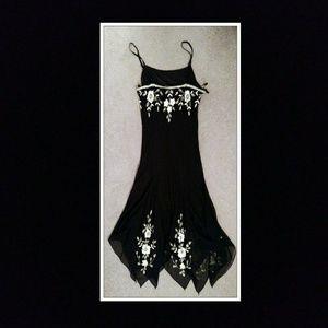 Dress Barn Collection Black Embellished Dress Sz10